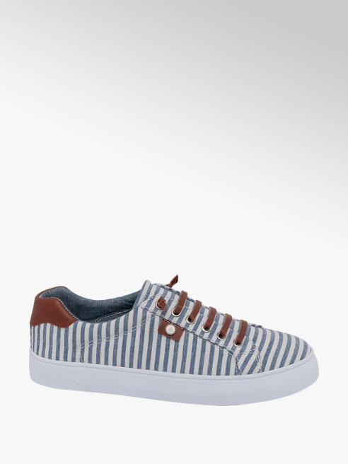 Graceland Sneaker a strisce bianco azzurre