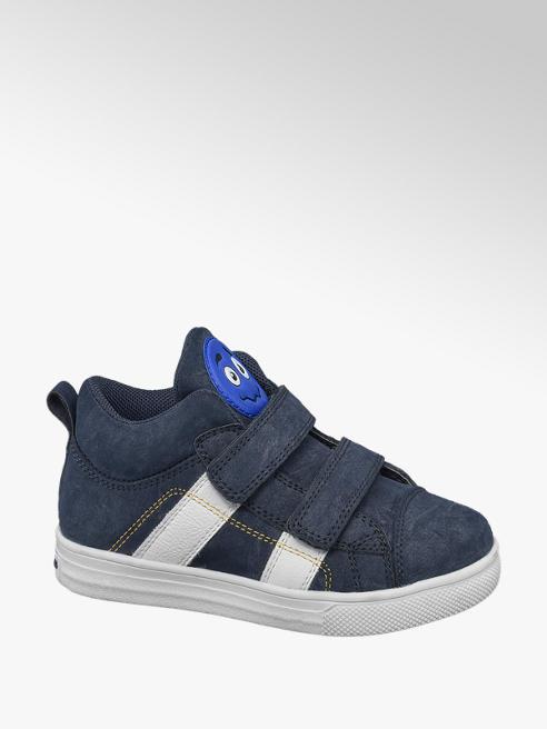 Bobbi-Shoes Sneaker alta blu con chiusura a velcro
