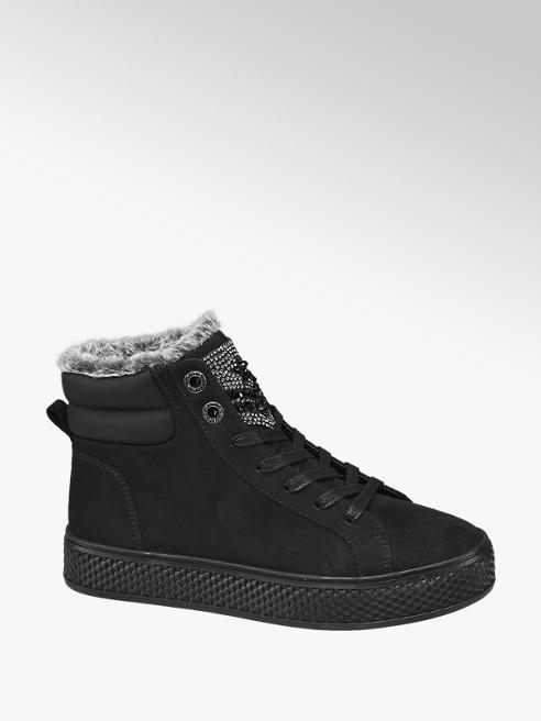 Venice Sneaker alta nera