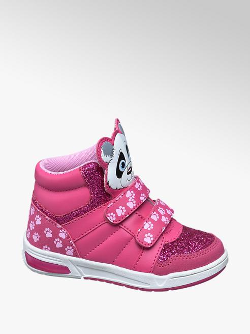 Cupcake Couture Sneaker alta rosa con glitter