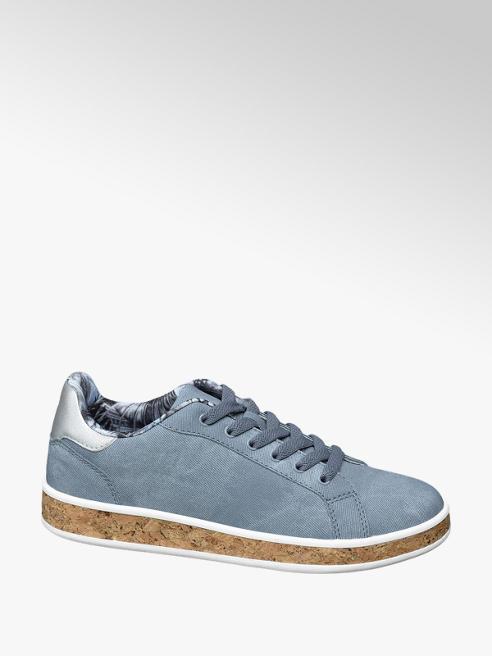 Graceland Sneaker azzurra con suola in sughero