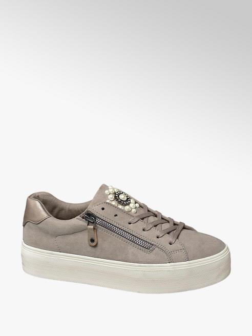 Graceland Sneaker beige con suola alta