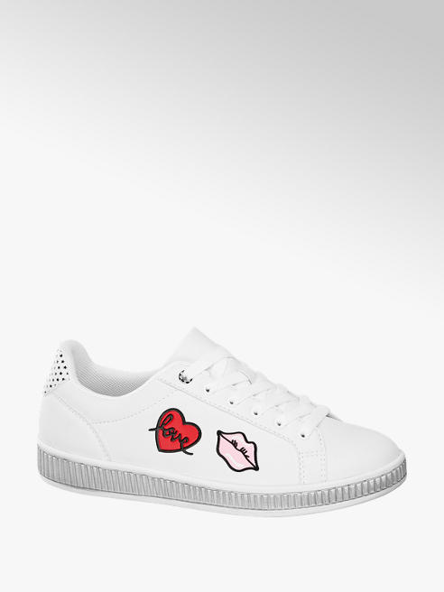 Graceland Sneaker bianca con applicazioni
