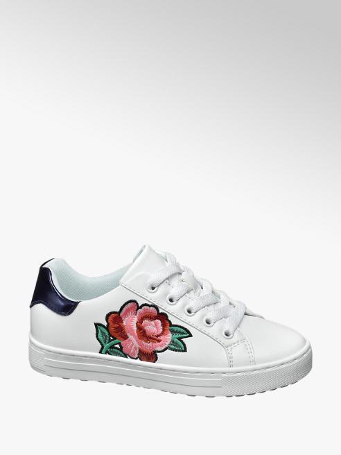 Graceland Sneaker bianca con fiore