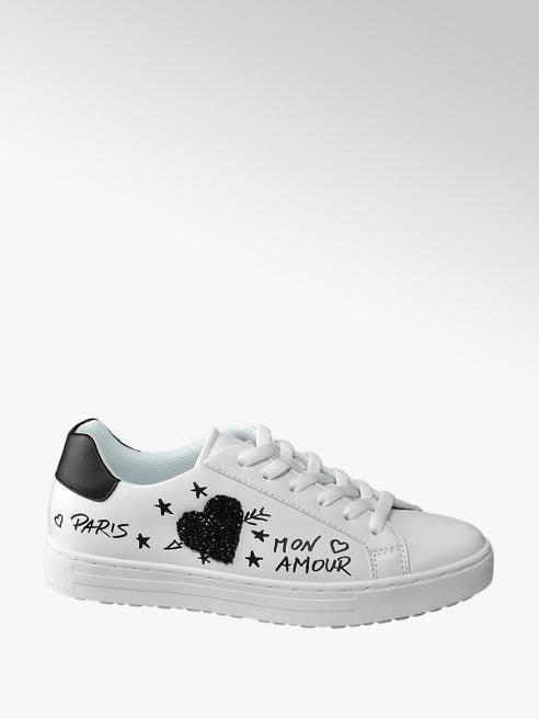 Catwalk Sneaker bianca con graffiti