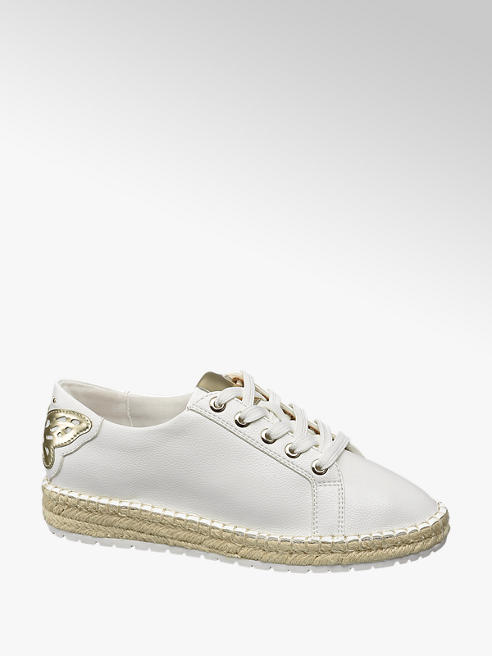 Graceland Sneaker bianca con suola in corda