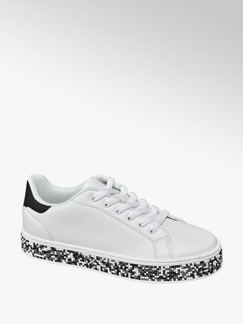 Graceland Sneaker bianca con suola multicolore