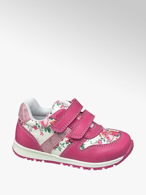 Cupcake Couture Sneaker bianca e fucsia con fiorellini