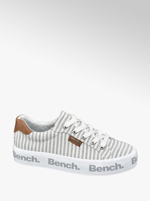 Bench Sneaker bianca e grigia a righe