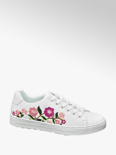 Graceland Sneaker bianca floreale