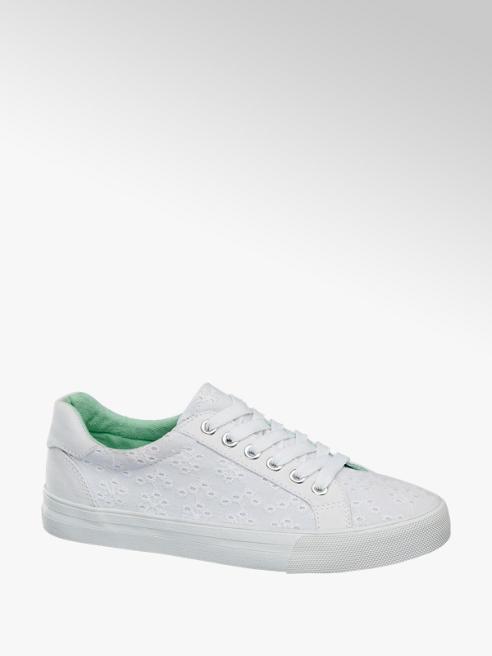 Graceland Sneaker bianca in tessuto ricamato
