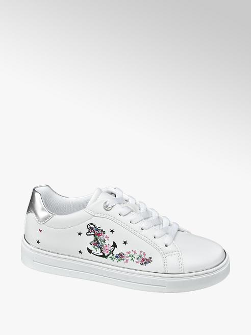 Graceland Sneaker bianco con decorazione sulla tomaia
