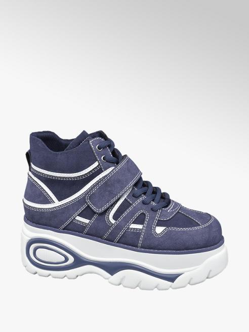 Catwalk Sneaker blu con suola alta