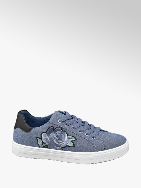 Graceland Sneaker blu denim con lacci
