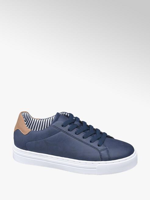 Graceland Sneaker blu in similpelle