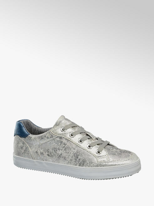 Graceland Sneaker con finitura argentata