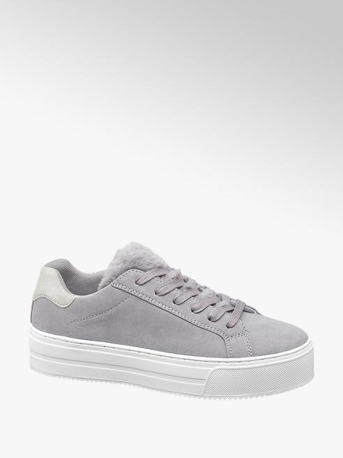 Catwalk Sneaker grigia con dettaglio in pelliccia