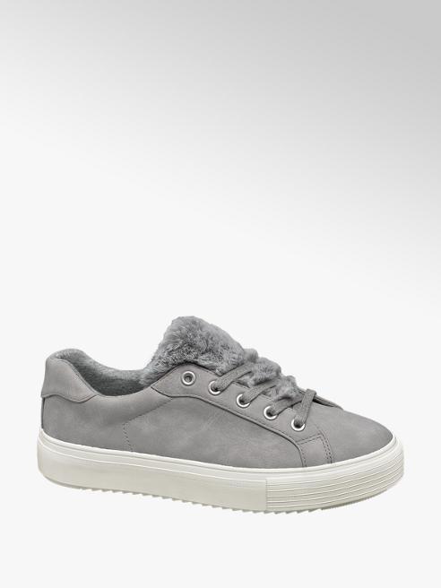 Graceland Sneaker grigia con pelliccia