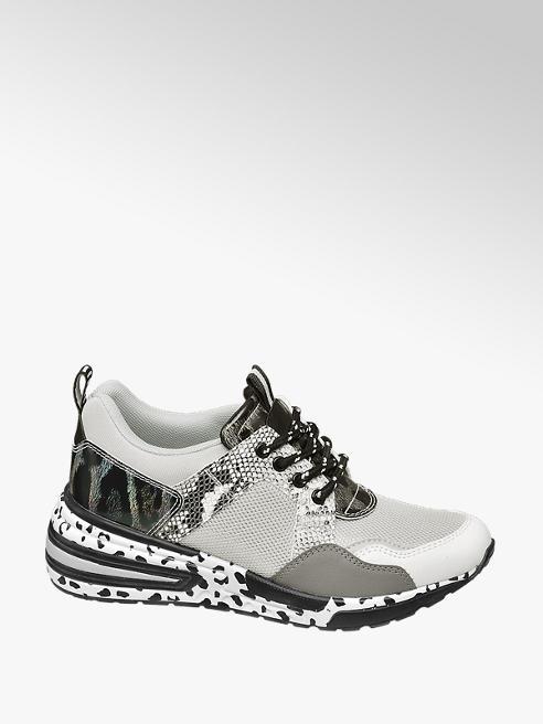 Venice Sneaker grigia con suola alta