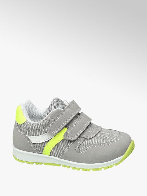 Bobbi-Shoes Sneaker grigia con velcro