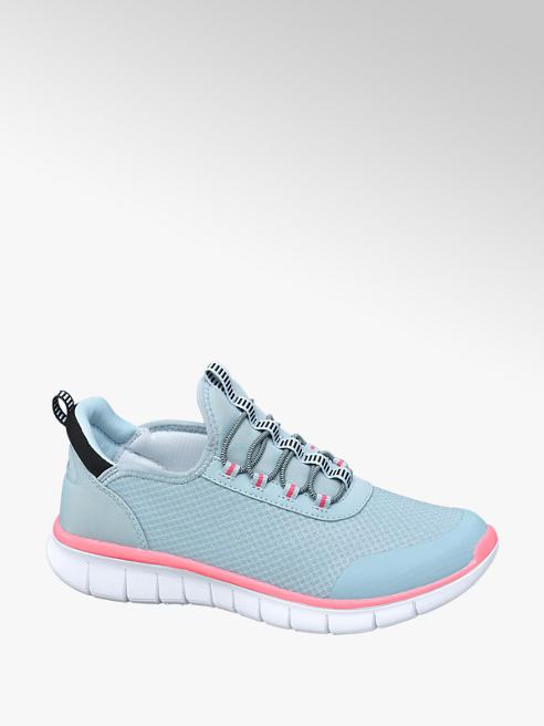 Venice Sneaker in mesh azzurro
