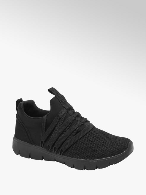 Graceland Sneaker in mesh nera