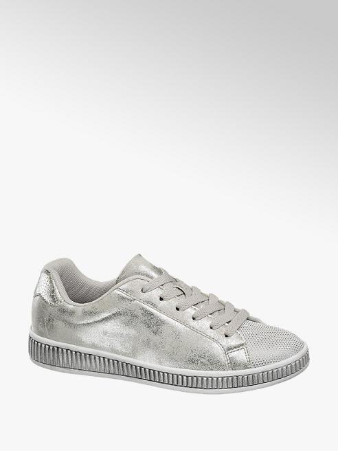 Graceland Sneaker in similpelle argentata