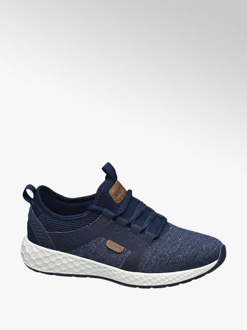 Bench Sneaker in tessuto blu