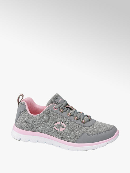 Graceland Sneaker in tessuto grigia e rosa