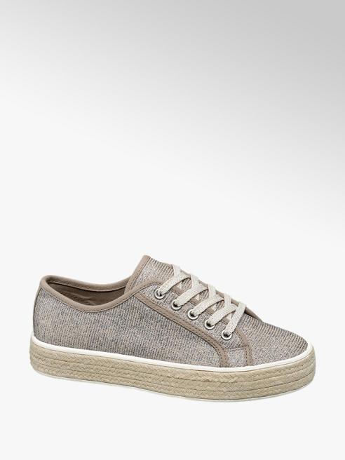 Graceland Sneaker in tessuto rigato con suola in corda