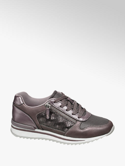 Graceland Sneaker metallizzata con zip