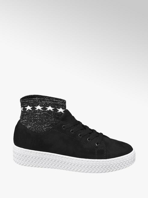 Graceland Sneaker nera a calzino