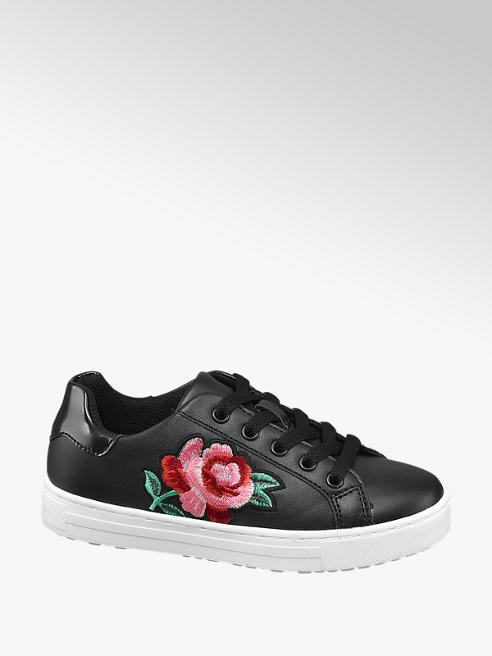 Graceland Sneaker nera con fiore
