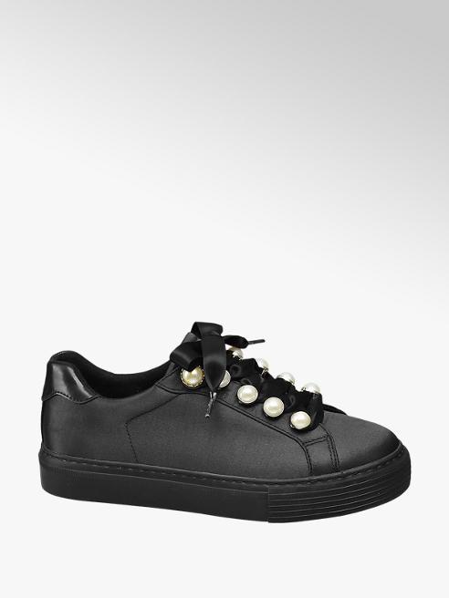 Graceland Sneaker nera con punti luce bianchi