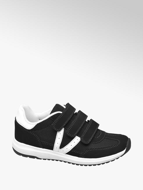 Vty Sneaker nera e bianca con velcro