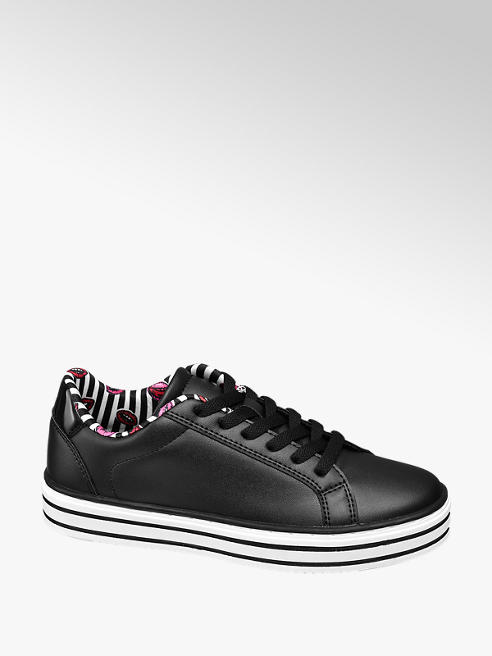 Graceland Sneaker nera in similpelle