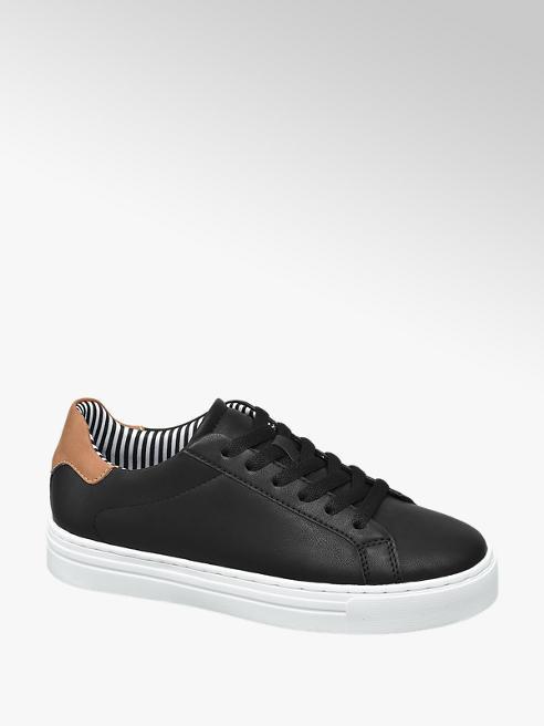 Graceland Sneaker nera in similpelle