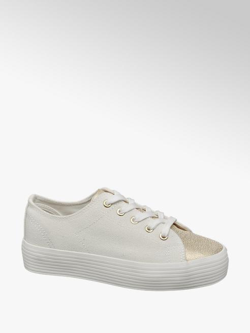 Vty Sneaker platform bianca e oro