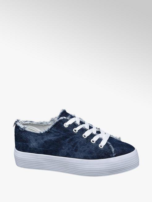 Vty Sneaker platform blu denim