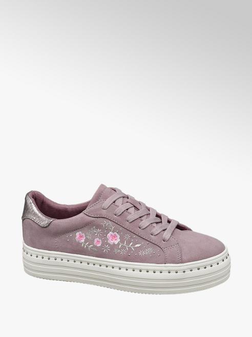 Graceland Sneaker platform rosa floreale