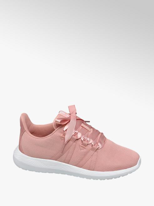 Vty Sneaker rosa con lacci a nastro