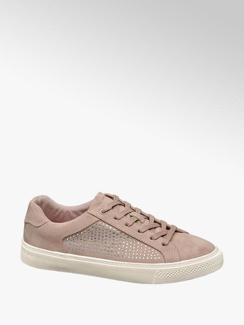 Graceland Sneaker rosa con strass
