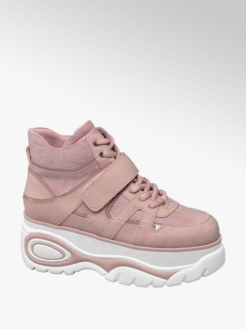 Catwalk Sneaker rosa con suola alta