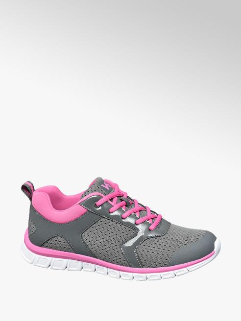 Vty Sneaker sportiva grigia e rosa