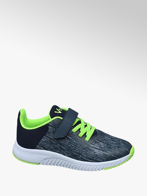 Vty Sneaker stringata blu e verde fluo