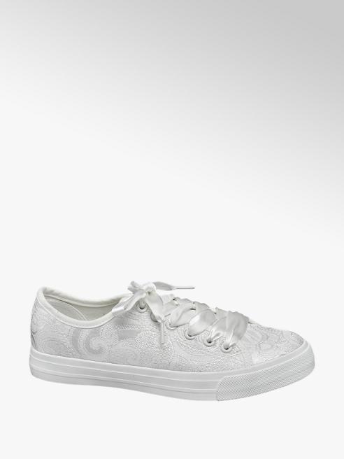 Vty Sneaker total white in tessuto