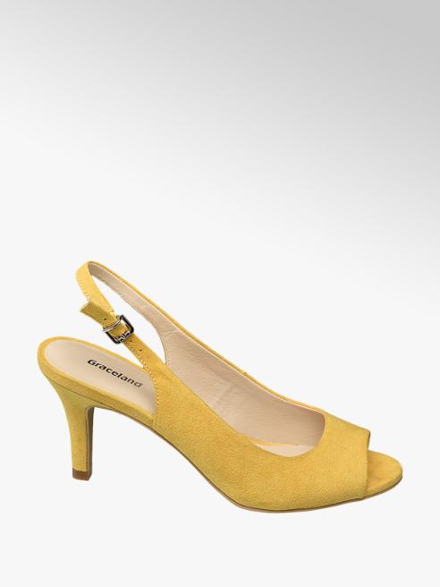 Graceland Spuntata slingback gialla