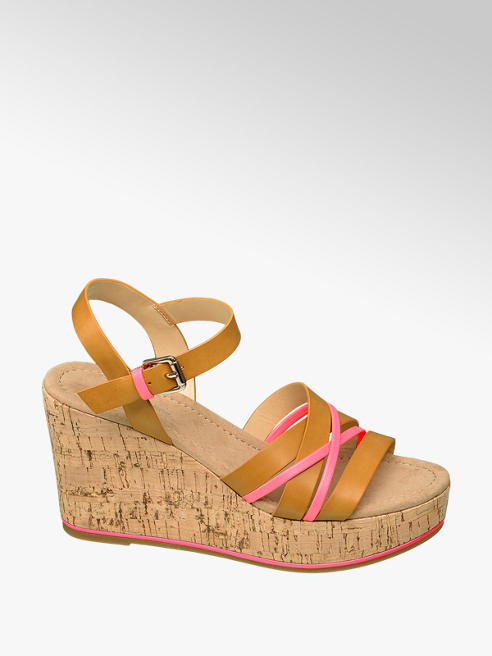 Star Collection Keil Sandalette in Braun