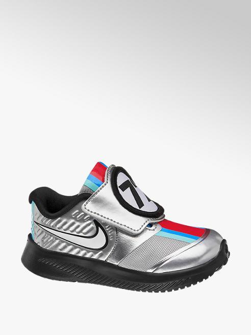 NIKE Stříbrné dětské tenisky na suchý zip Nike Star Runner 2 Auto Tdv