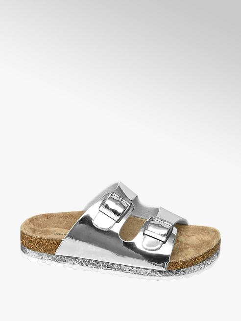 Graceland Stříbrné dívčí pantofle Graceland